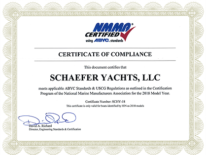 NMMA Certificate of Compliance
